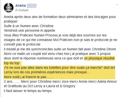 Temoignage Numen Process Anelia Thérapeute